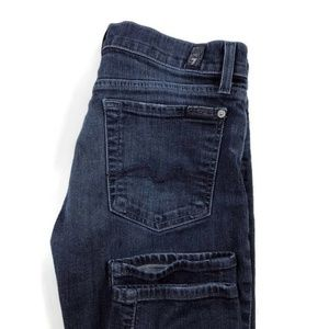 7 For All Mankind Roxanne Skinny Blue Stretch Jean